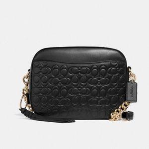 Coach Camera Bag in Signature Leather - NWT
